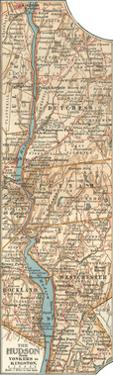 Plate 69. Inset Map of the Hudson River by Encyclopaedia Britannica