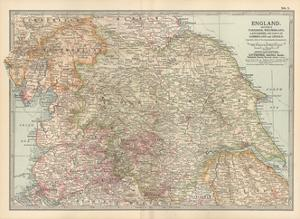 Plate 7. Map of England. Section II. Yorkshire by Encyclopaedia Britannica