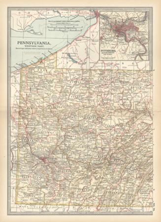 Plate 74. Map of Pennsylvania