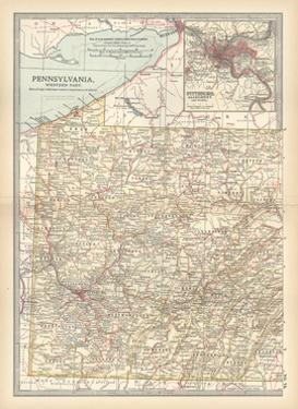 Plate 74. Map of Pennsylvania by Encyclopaedia Britannica