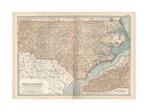 Plate 78. Map of North Carolina. United States by Encyclopaedia Britannica