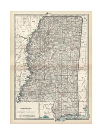 Maps Of Mississippi Posters At AllPosterscom - Map mississippi