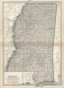 Maps Of Mississippi Posters At AllPosterscom - Map of mississippi