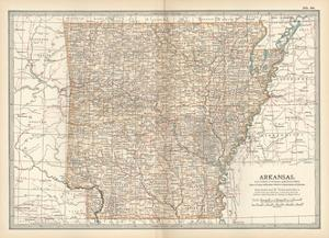 Plate 86. Map of Arkansas. United States by Encyclopaedia Britannica