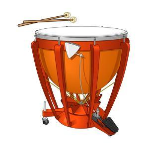 Timpani or Kettledrum and Drumsticks, Percussion, Musical Instrument by Encyclopaedia Britannica