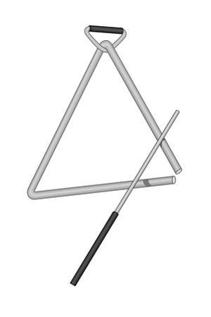Triangle and Beater, Percussion, Musical Instrument by Encyclopaedia Britannica