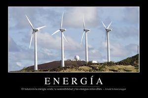 Energía. Cita Inspiradora Y Póster Motivacional