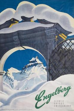 Engelberg Switzerland Travel Poster