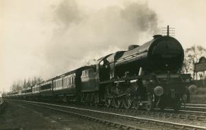 Engine Pulling Train