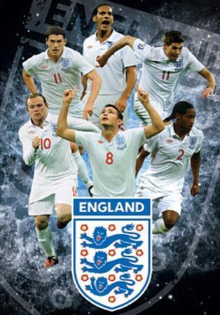 England F.A Stars 3-D Lenticular Sports Poster Print
