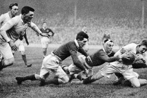 England Scoring a Try Against Scotland, Twickenham, London, 1926-1927