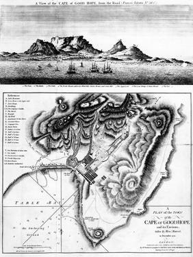 A View of the Cape of Good Hope and a Plan of the Town of the Cape of Good Hope and its Environs by English