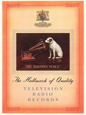 Advert for 'His Master's Voice', Illustration from the 'South Bank Exhibition' Catalogue by English