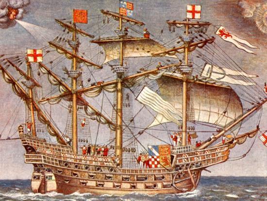 English Fleet's Flag Ship for Spanish Armada Campaign, the 38 Gun Frigate  Sailing Ship Ark Royal' Photographic Print   AllPosters.com