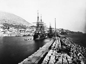 English Ironclad Warships at Gibraltar