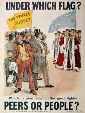 Liberal Party Poster for the British General Election of January 1910 (Colour Litho) by English