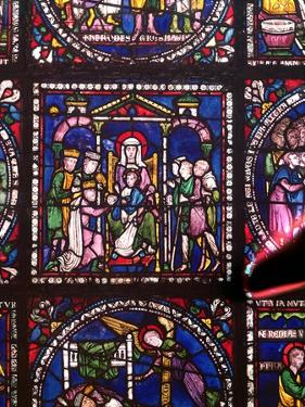 Nativity with Magi and Shepherds (Stained Glass) by English