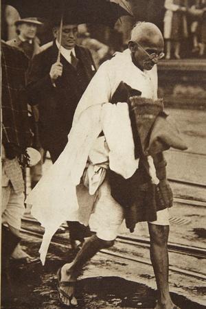 Gandhi Visiting London for 'Round Table' Conferences, September 1930
