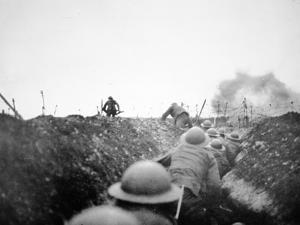 'Going over the Top', 24th March 1917 by English Photographer