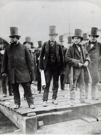 John Scott Russell, Henry Wakefield, Isambard Kingdom Brunel and Lord Derby