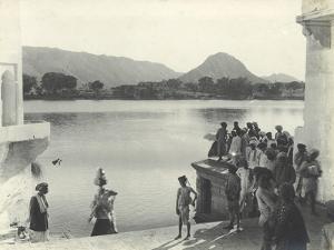 Sacred Lake of Pushkar, Near Ajmer, January 1912 by English Photographer