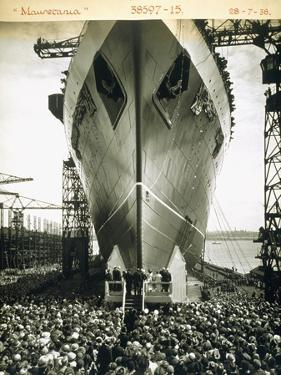 The Launching of the Rms Mauretania, 28th July 1938 by English Photographer