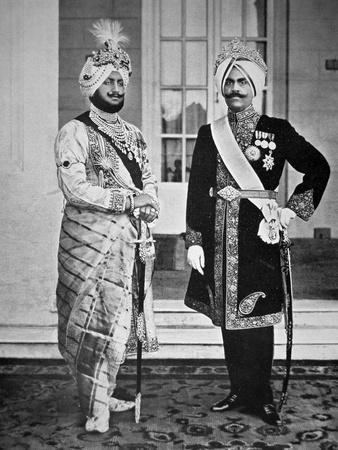 Two Sikh Princes of the Punjab, 20th July 1918 (B/W Photo)