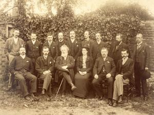 William Morris, Photographed with the Staff at Kelmscott Press (B/W Photo) by English Photographer