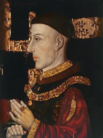 Portrait of Henry V (1387-1422) (During Restoration) (Oil on Panel) (See 99913)