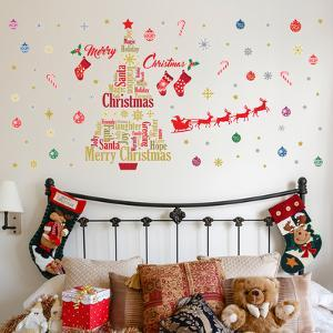 English Quotes Christmas Decoration Set