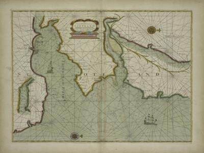 A chart of the East coast of Scotland from a sea atlas, 1707 by English School