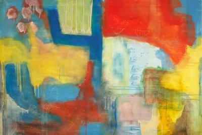 Abstract Expressionist in Red, Yellow and Blue