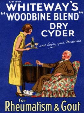 Advertisement for 'Whiteway's 'Woodbine Blend' Dry Cyder', 1920s by English School