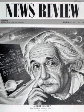 Albert Einstein on the Cover of 'News Review', 16th May 1946 by English School