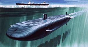 Atomic Submarine under the Ice by English School