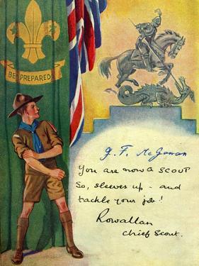 'Be Prepared', Boy Scout Enrolment Card. 1947 by English School