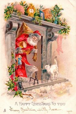 Christmas Postcard, 1903 by English School