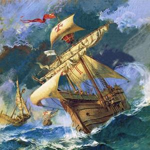 Christopher Columbus's Santa Maria by English School