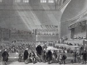 Daniel O'Connell Standing Trial in 1844 by English School