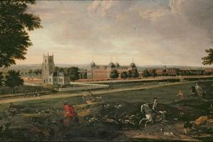 Euston Hall and Church by English School