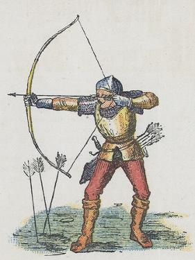 Foot Archer with Long Bow by English School