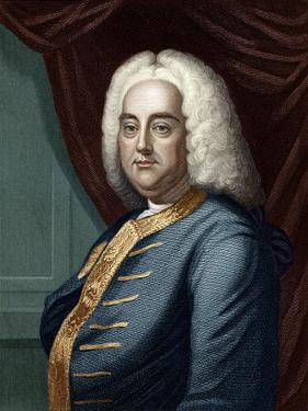 George Frederic Handel, Engraved by Thomson by English School