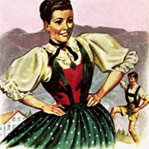 Girl in the Costume of the Austrian Tyrol by English School
