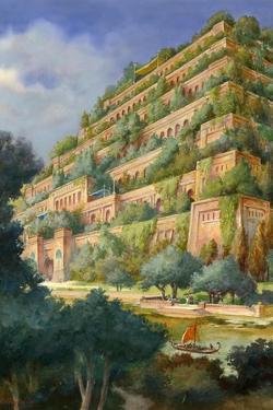 Hanging Gardens of Babylon by English School