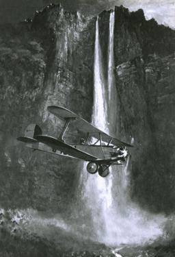 Jim Angel's Discovery of What Became to Be Called the Angel Falls in Venezuela by English School
