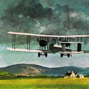 John William Alcock and Arthur Whitten Brown Who Flew across the Atlantic by English School