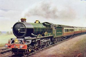 'King George V' of the G.W.R Cornish Railway Express, Illustration from 'The Wonder Book of… by English School