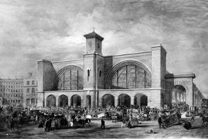 King's Cross Station, C.1852 by English School