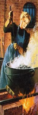 Madame Curie at Work in Her Laboratory by English School