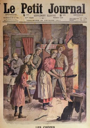 Making Pancakes, Illustration from 'Le Petit Journal', 26th February 1911 by English School